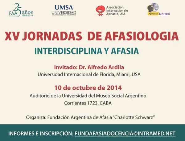 XV Jornada Afasiología